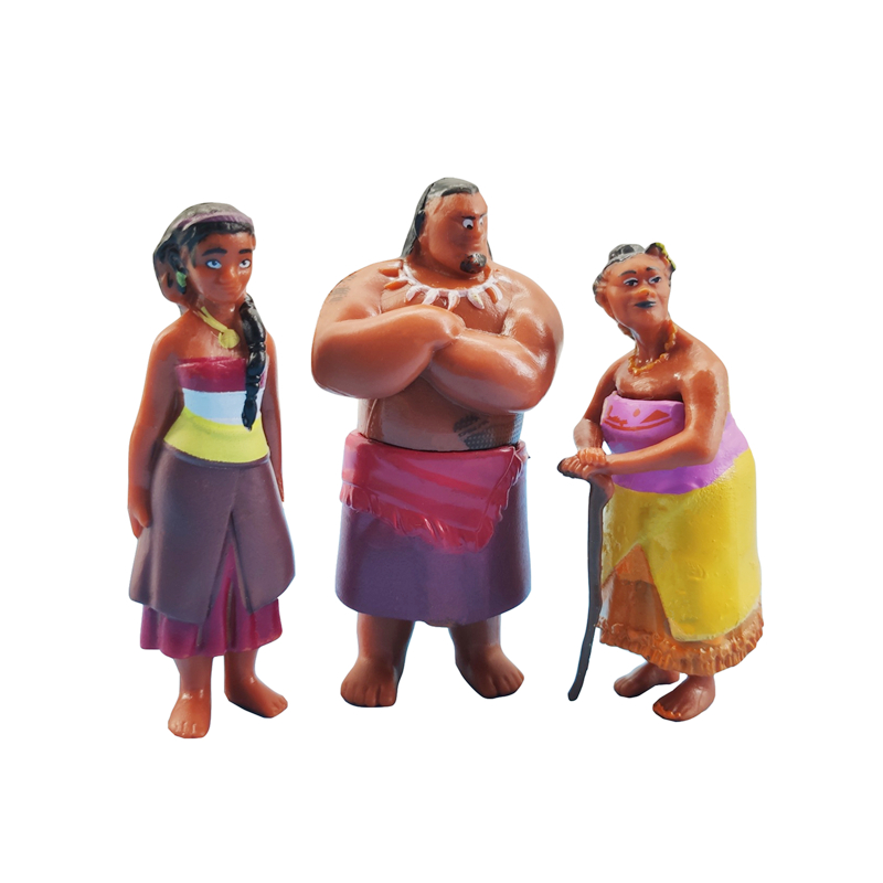 Image 4 - Disney Moana 12 Pcs/Set Cartoon Model Moana Waialiki Maui Heihei Chief Tui Tala Sina Anime Action Figure Toy Child Birthday GiftAction & Toy Figures   -