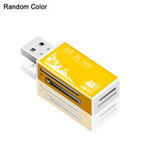 Color Random PC Laptop Aluminum SD MS M2 TF Memory Card All In 1 Mini USB 2.0 Card Reader