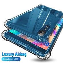 Luxo à prova de choque claro transparente silicone caso do telefone para oneplus 6t 7 7t pro proteção capa traseira para oneplus 8 pro caso