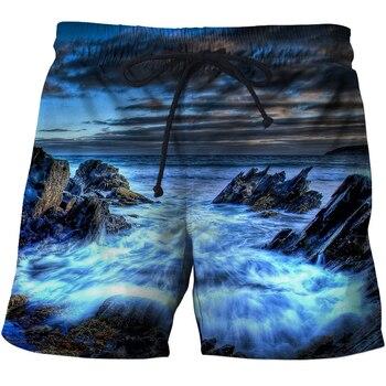 Men's Fishing Printed Swimwear