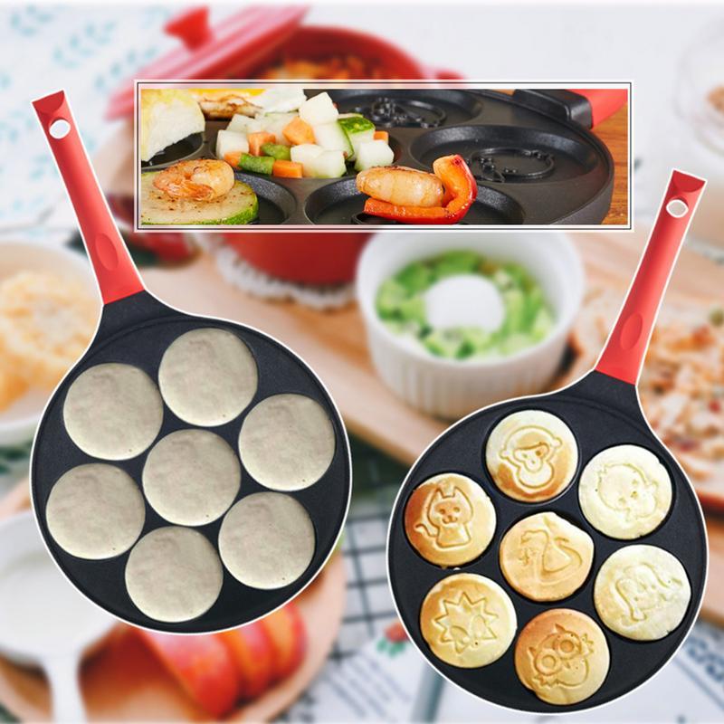 Molde de Omelete de Smiley de Alumínio Multifuncional Fundo Plano Poroso Frigideira Criativa Animal Antiaderente Frito Cozinha Ovo Molde