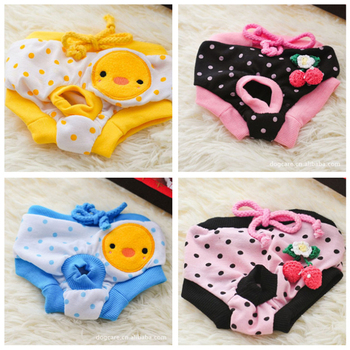 Cute Female Dog Physiological Pants Diaper Sanitary Dog Shorts Panties Briefs Print Comfortable Dog Sanitary Shorts Panties image