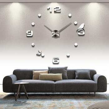 2020 darmowa wysyłka nowy prawdziwy metal 3d diy akrylowa ściana lustrzana zegar zegarek zegary dekoracja do domu nowoczesne igły kwarcowe naklejki tanie i dobre opinie Masi Rui CN (pochodzenie) Krótkie dh003 circular acrylic 90cm Pojedyncze twarzy 900mm 300g QUARTZ Zegary ścienne 9mm Sheet