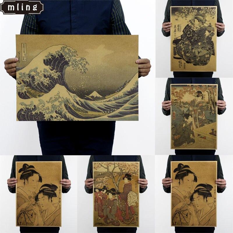 Anime Naruto Vintage Kraft Paper Wall Poster Bar Cafe Decorative Art 51.5X36cm