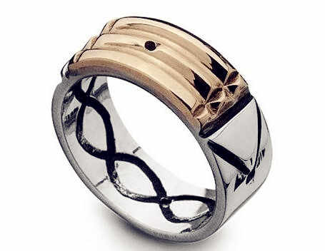 Seven Blessings S spinning ring with stainless steel talisman amulet atlantis ring for women men silver gold two colors