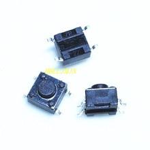 100 шт. 6x6x5 мм smd 4pin тактильные кнопочные переключатели квадратные ручки, сенсорный переключатель 6*6*5 мм транзистор
