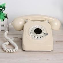 Teléfono Fijo de estilo clásico con cable, teléfono Retro de estilo antiguo con Dial giratorio, teléfono para el hogar con tono de llamada mecánico y electrónico