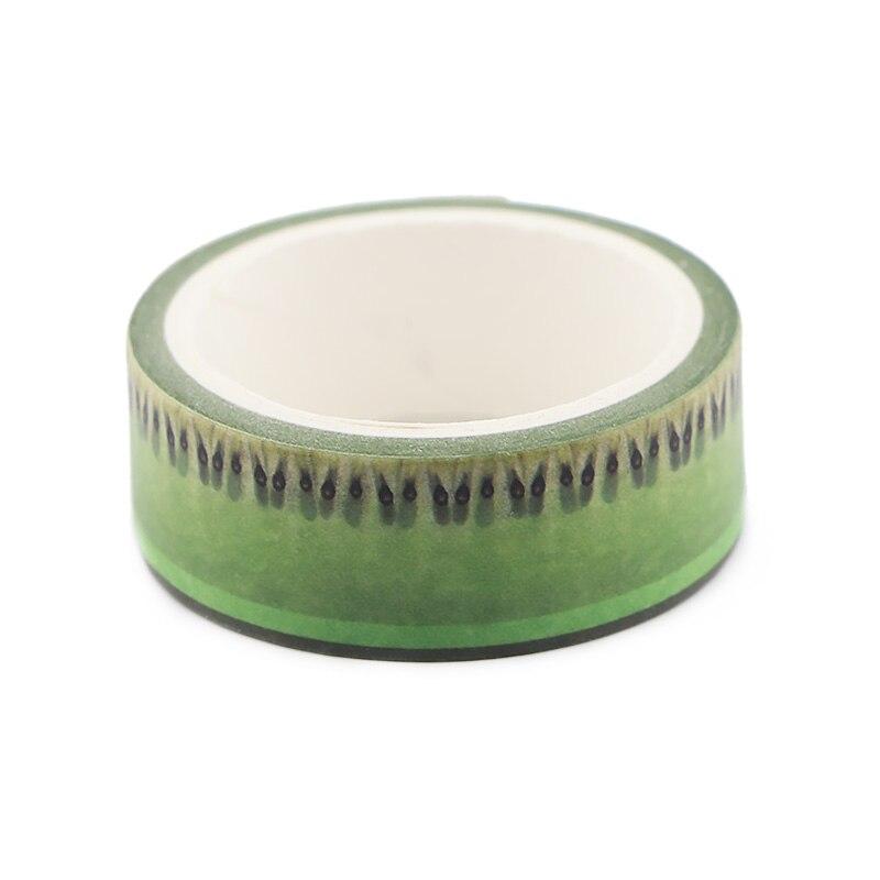 CA137 киви фруктовый светильник зеленый васи ленты DIY живопись бумага маскирующая лента декоративные офисные клейкие ленты Скрапбукинг наклейки