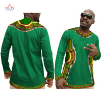 Custom New Summer Fashion African Men t Shirt Brand Clothing Shirt Long Sleeve Dashiki for Men Shirt Mens Tops BRW WYN151