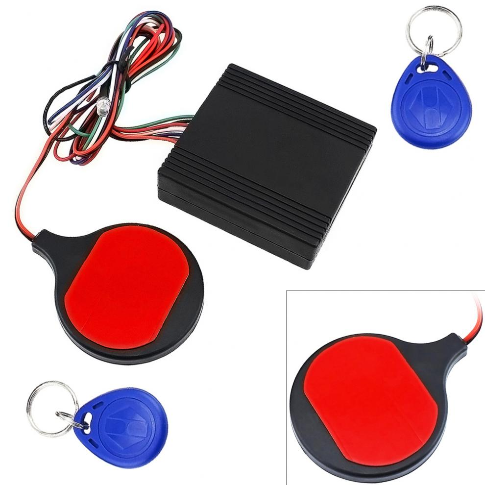 12V Motorcycle ID Card Sensing Stealthy Lock Anti-theft Device Intelligent IC Swiping Card Sensing Lock For Motorbike Scooter