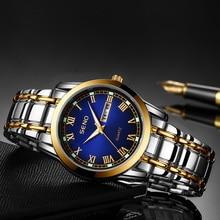 Men's Sports Watch Business Luminous Watch Men's Fashion Quartz Watch Waterproof Dual Calendar Clock Stainless Steel Band Watch