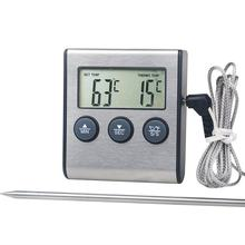 Tp700 Digital Remote Wireless Food Kitchen Oven Thermometer Probe For BBQ Grill Oven Meat Timer Temperature Manually Set(China)