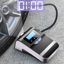Портативный автомобильный воздушный компрессор, цифровой насос для шин, 12 В, с большим светильник, яркий мигающий цифровой манометр, 150Psi