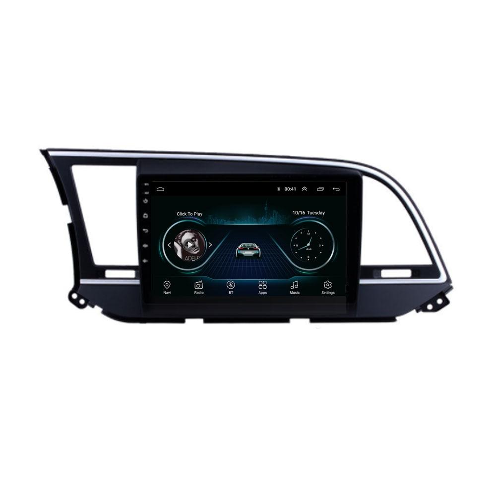 Quad Core Android 8.1 For HYUNDAI ELANTRA 2016 2017 2018 2019 2020  Multimedia Stereo Car DVD Player Navigation GPS Radio