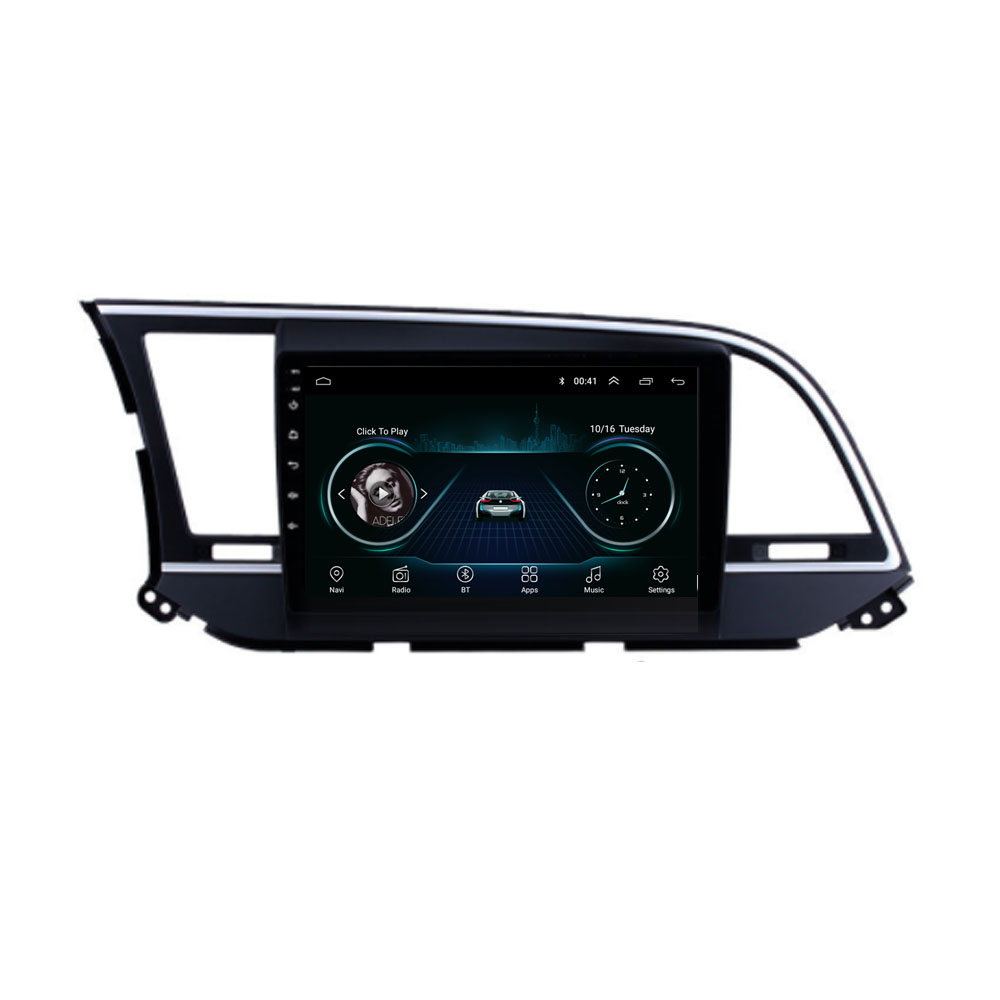 quad core Android 8.1 For <font><b>HYUNDAI</b></font> <font><b>ELANTRA</b></font> 2016 2017 2018 2019 2020 Multimedia Stereo Car DVD Player Navigation <font><b>GPS</b></font> Radio image