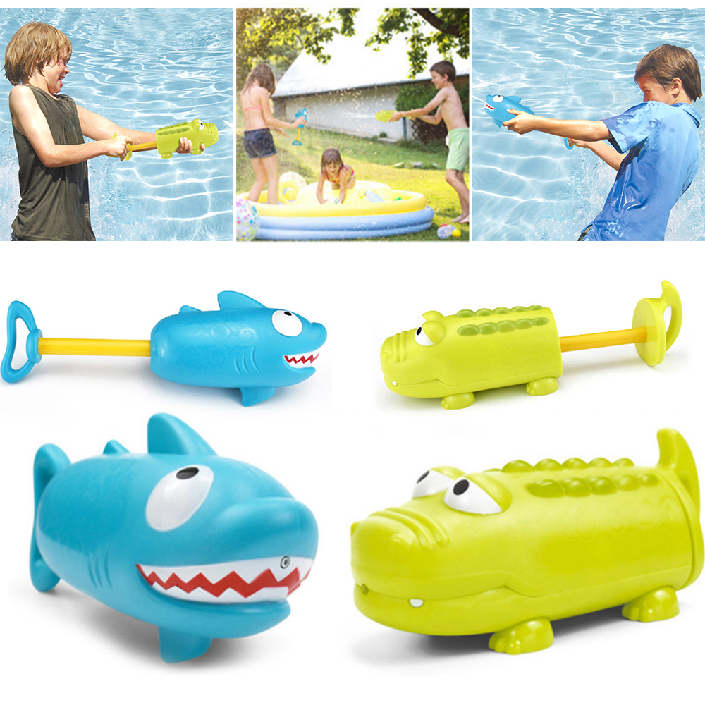 2020 New Arrival Kids Summer Crocodile Shark Water Gun Game Toy Summer Outdoor Swimming Toys Pumping Lightweight Portable Spray