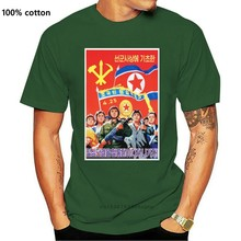 Divertente uomini t shirt donne novità tshirt corea del nord PROPAGANDA POSTER T SHIRT cool T-Shirt1 (1)