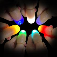 2Pcs LED Light up Finger Thumb Tips Kuso Prank font b Magic b font Party font