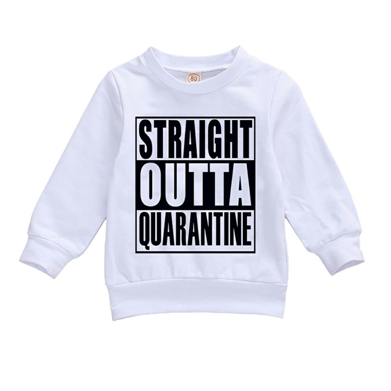 2020 new Children's Crew Neck Pullover New Born Boy and Girl's Long Sleeve Letter Print Sweatershirt Casual clothing 0-24M