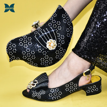 Special Style Italian design Shoes and Bag Matching Set Nigerian Women Party Pumps High Heels African Wedding Shoe and Bag Sets
