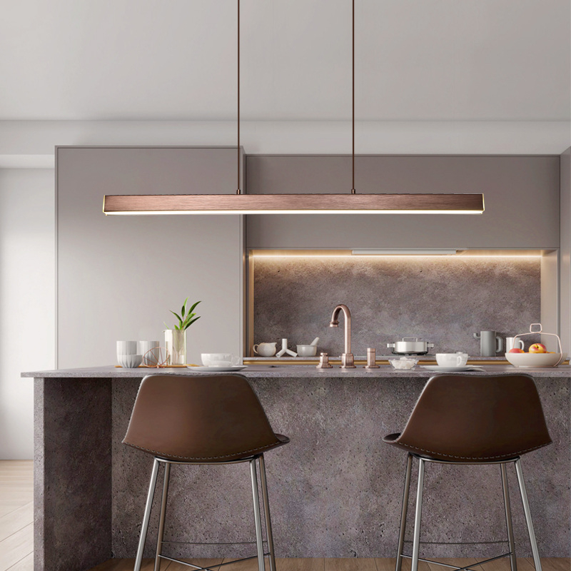 Modern LED Dining Room Pendant Lamps Nordic Restaurant Long Kitchen Hanging Lamps Office Bar Study Lamp Decor Lighting Fixtures