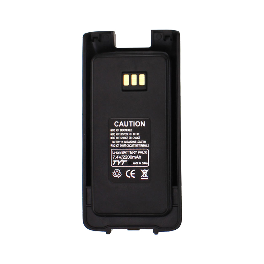 100% Original Li Ion Battery 7.4V 2200mah For TYT MD-UV390 Walkie Talkie MD-390 DMR Radio