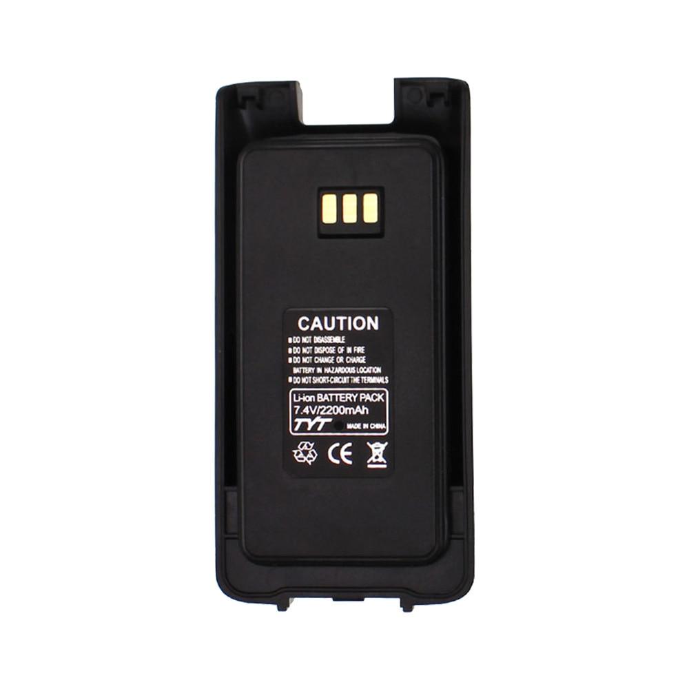 100% Original Li Ion Battery 7.4V 2200mah For TYT MD-UV390 Walkie Talkie MD-390 DMR Radio