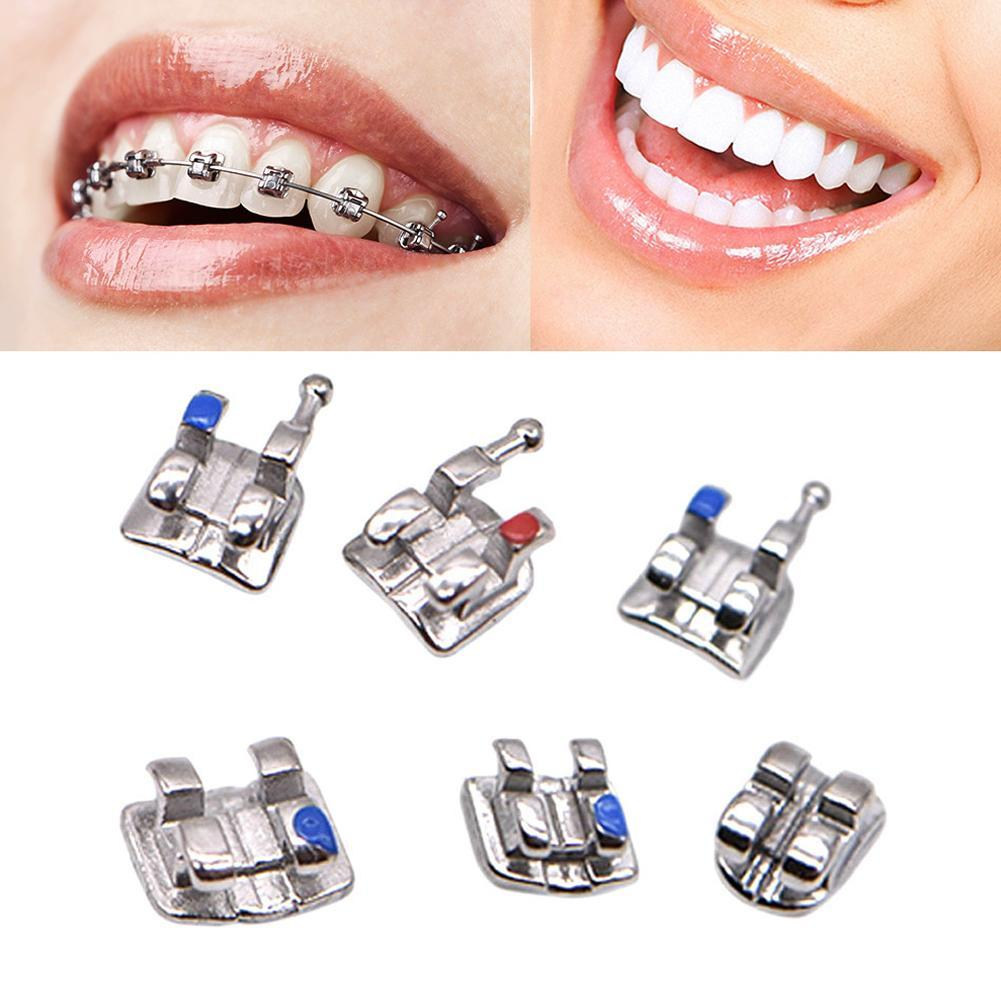 20PCS/Box Metal Bracket Orthodontic Mini Roth Bracket Dental Brace for Dentist Tools