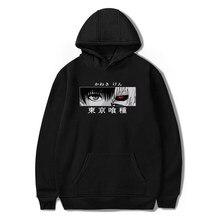 Tóquio ghoul kaneki ken olhos manga japonês anime impressão hoodies unissex solto hip hop sweatshirts streetwear harajuku homens com capuz