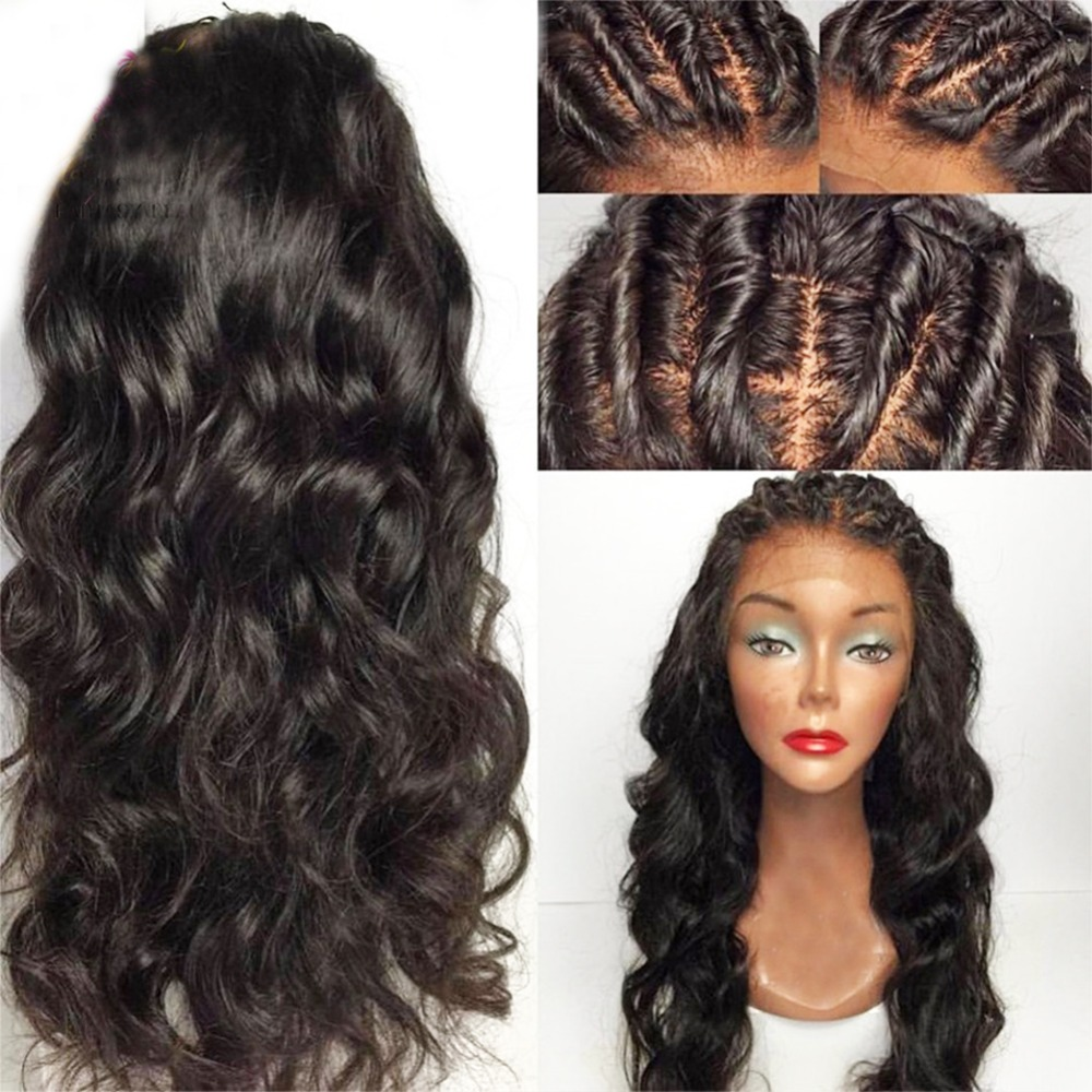 SimBeauty Natural Hairline Pre Plucked 360 Lace Frontal Human Hair Wigs With Baby Hair For Women Loose Wave Peruvian Remy Hair