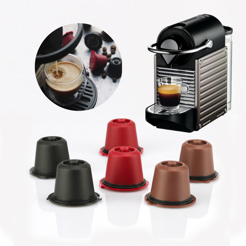 Coffee Capsule For Nespresso Refillable Coffee Filters Capsules Cup Dripper Coffee Accessories Get 1 Spoon 1 Brush