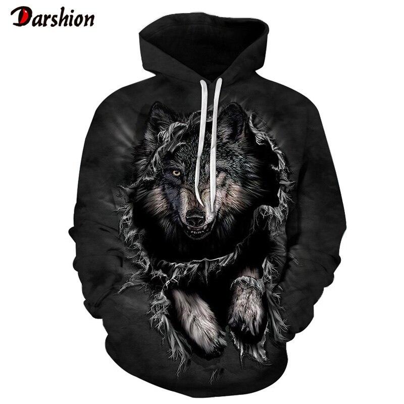 3D Hoodies Wolf Print Sweatshirt Men/Women Casual Autumn Winter Tracksuit Hoodie Male Fashion 3D Sweatshirt Wolf Men Streetwear
