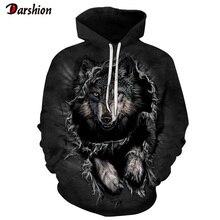 3D Hoodies Wolf Print Sweatshirt Men/Women Casual Autumn Win