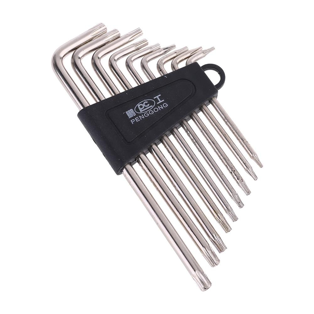 9 Pcs Useful Hex Key Wrench Sets Torx L Shape Repair Tool Screwdriver Tool Set