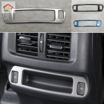 Car Styling Body Stainless Steel Navigation GPS Pannel Central Frame Cover Stick Hoods Trim 1pcs For Nissan Terra 2018 2019 2020 image