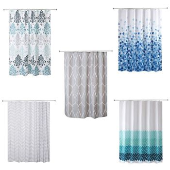 European Style Shower Curtain Bathroom Fall Curtains Waterproof Cloth for Shower Room Bath Use