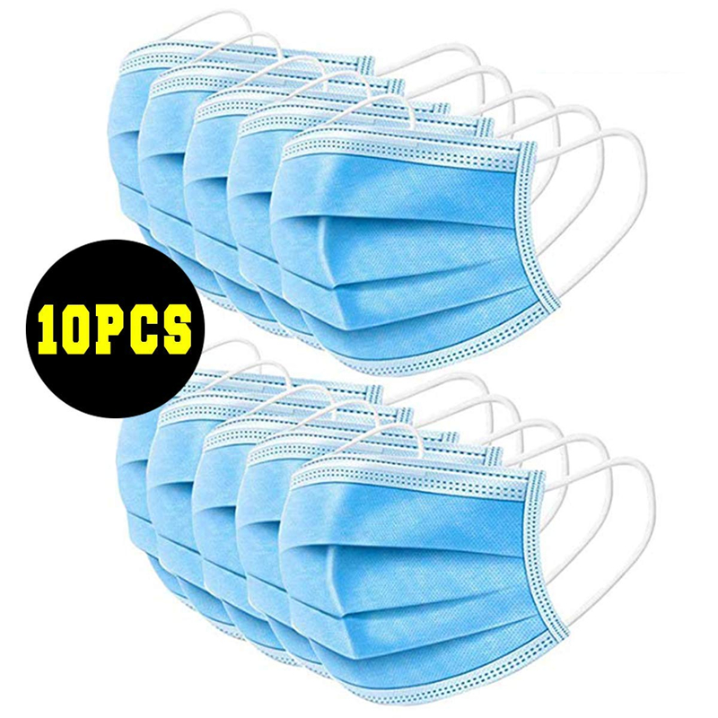 Three Layer Non-woven Ear Band Mask Blue * 10 Pieces