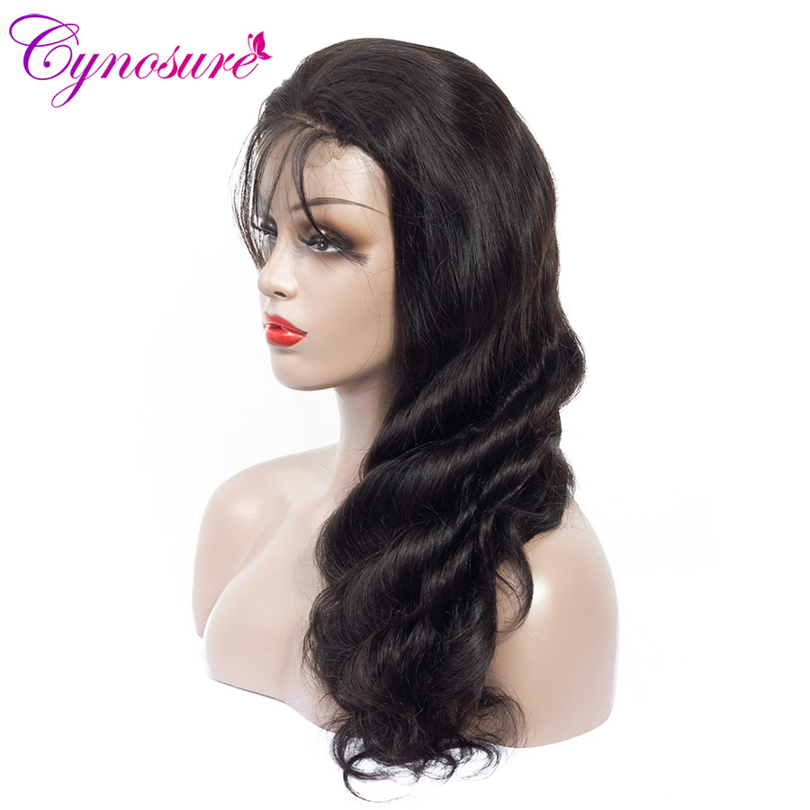Hd704772d525c4441b10dfbfa624f022a5 Cynosure 4x4 Lace Front Human Hair Wigs Pre Plucked with Baby Hair For Black Woman Remy Brazilian Body Wave Lace Closure Wig