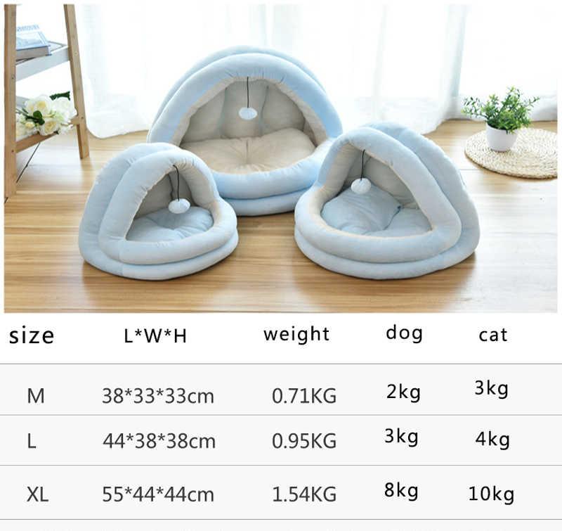 Miękki kot ciepły mały dla kotów psy domowe legowisko dla kota kryty domek dla kota gniazdo składany kot jaskinia śliczne maty do spania produkty zimowe