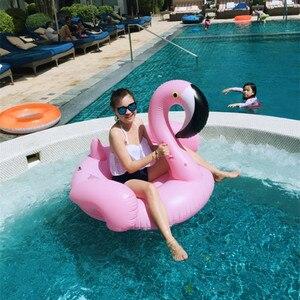 Flamenco inflable Rosa Cisne gigante paseo en la piscina juguete flotador natación anillo vacaciones playa isla diversión con agua fiesta Juguetes