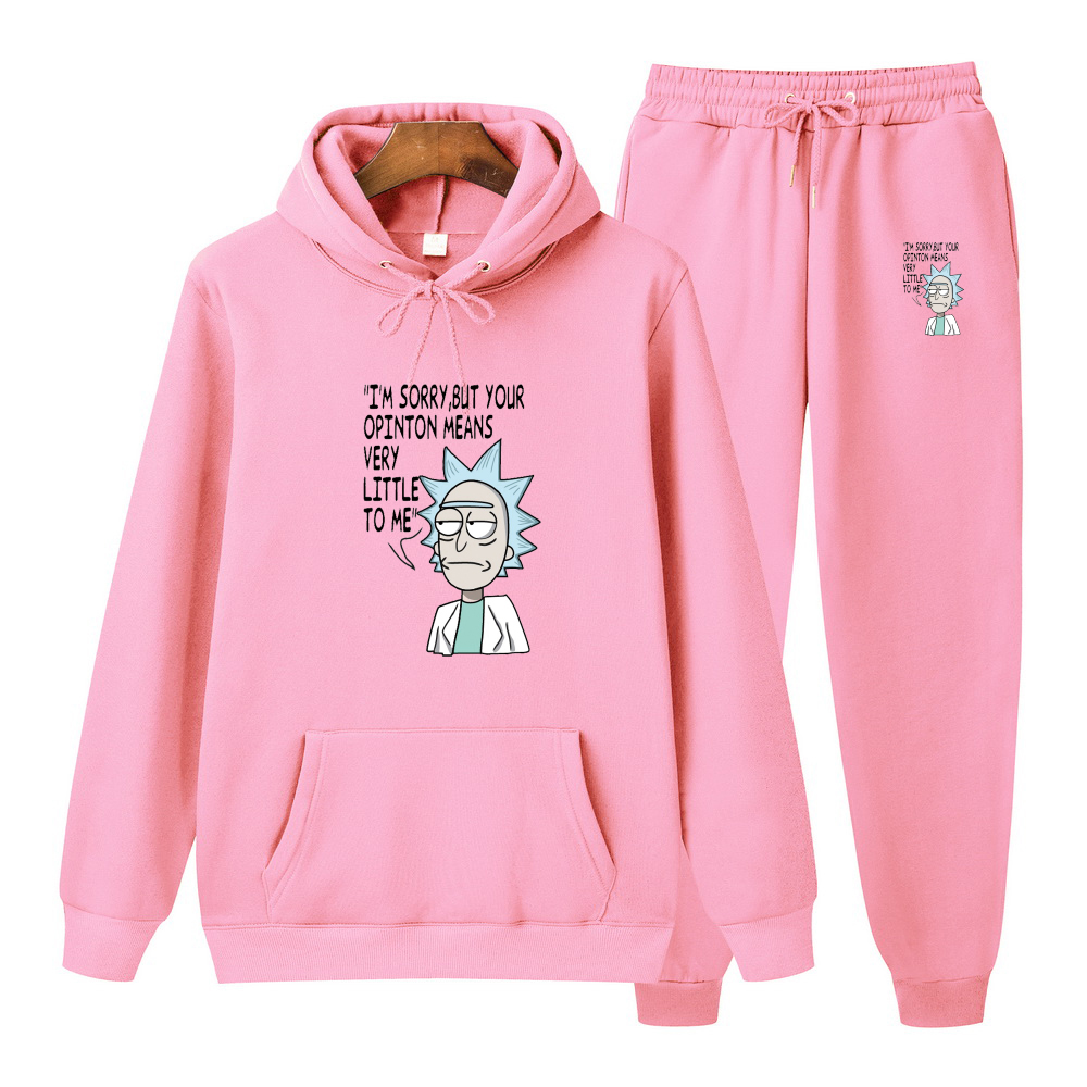 Men Hoodies Sweatshirts Pants Sets Rick And Morty Anime Printed  2020 New Autumn Casual Hoody Pullover Sportswear