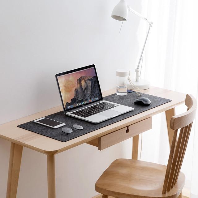 Large XXL Office Computer Desk Mat Table Keyboard Big Mouse Pad Wool Felt Laptop Cushion Desk Non-slip Mat Gamer Mousepad Mat 3