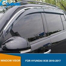 현대 ix35 용 사이드 윈도우 디플렉터 2010 2011 2012 2013 2014 2015 2016 2017 윈드 실드 Sun Rain Deflector Guard SUNZ