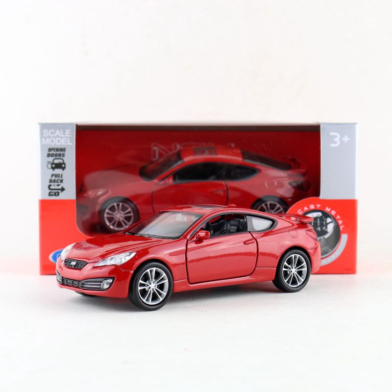 1:36 Welly Hyundai Genesis Coupe Diecast Metal Model Car Toy New in box Red