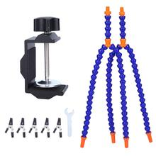 Desk-Clamp Arms-Holder Fixing Multifunctional for Circuit-Board Repairing And Blue 4-Arms