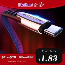 Câble de USB type C iHaitun 5A pour Huawei P30 Pro P20 Lite Honor V30 10 9 Pro 3.1 cordon de données de charge rapide chargeur de téléphone Samsung S10 V20 V10 Mate 30 Mate 20