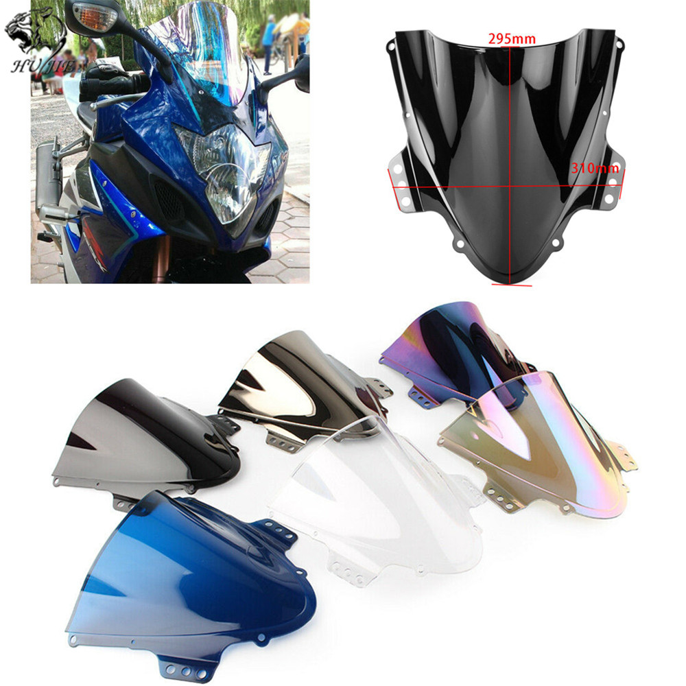 Double bubble Motorcycle front glass Windscreen Windshield for <font><b>Suzuki</b></font> GSXR 1000 GSXR-1000 <font><b>GSXR1000</b></font> K5 <font><b>K6</b></font> 2005 2006 05 06 image