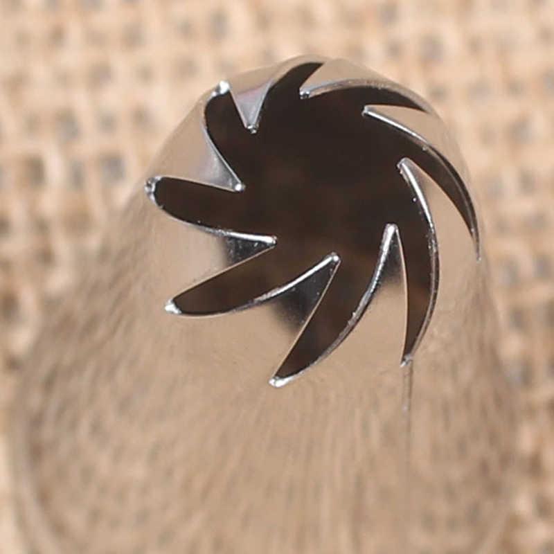 Stainless Steel DIY Icing Piping Tips Kue Piping Nozzle Parsty Fondant Kue Dekorasi Alat