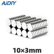 AIDIY 30 pcs 10mm X 3mm round strong  neodymium magnet N35 Mini small magnets Disc 10*3mm