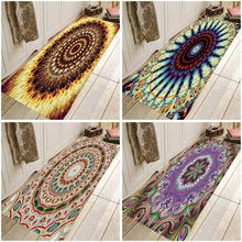Mandala Mat Bohemia Rug  Hallway Carpets  India Mandala  Rugs Carpets Hipi Doormat For Kitchen Bathroom Anti-Slip